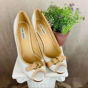 Steve Madden | Leather Heels | White | 10